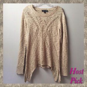 Almost Famous Open Knit Sweater Side Splits